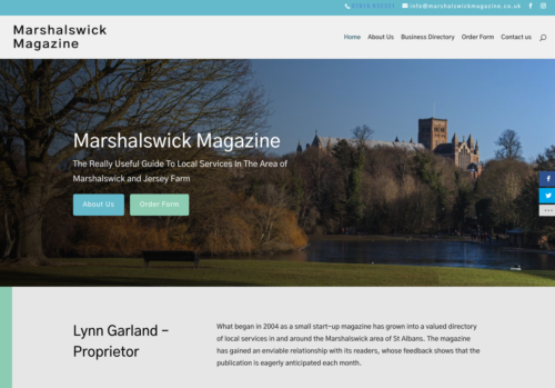 Magazine Website for a Local Community
